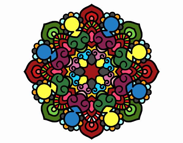 Dibujo Mandala reunión pintado por Clouster
