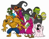 Dibujo Monstruos de Halloween pintado por soyfan