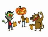 Dibujo Monstruos de truco o trato pintado por soyfan
