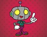 Dibujo Robot simpático pintado por elwaht