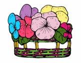 Dibujo Cesta de flores 12 pintado por LEIQUIVA06