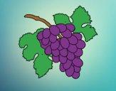Dibujo Racimo de uvas pintado por vale26