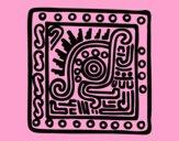 Dibujo Símbolo maya pintado por vale26