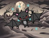 Un murciélago de Halloween