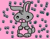 Dibujo Art el conejo pintado por luzFernand