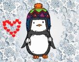 Bebé pingüino con gorrito