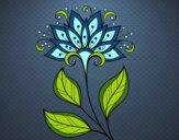 Dibujo Flor decorativa pintado por betzabethN