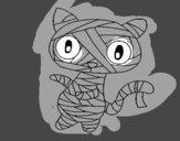 Dibujo Gato garabato momia pintado por luzFernand