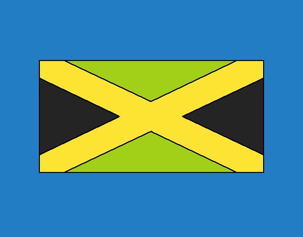 Dibujo Jamaica pintado por vale26