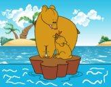 Mama osa con su hijo