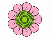Mandala en forma de flor