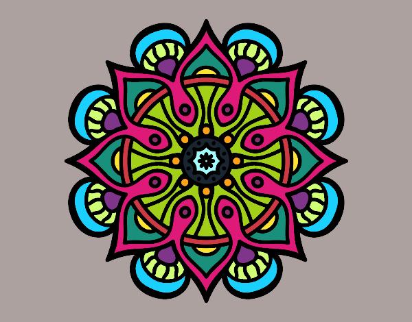 Dibujo Mandala mundo árabe pintado por vale26