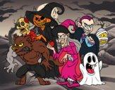 Dibujo Monstruos de Halloween pintado por vale26