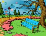Dibujo Paisaje de parque pintado por bandin