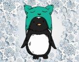 Dibujo Pingüino con gorrito divertido pintado por Picasa