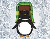 Dibujo Pingüino con gorro pintado por Picasa
