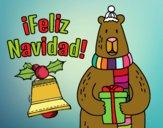 Dibujo Postal Feliz Navidad pintado por navid