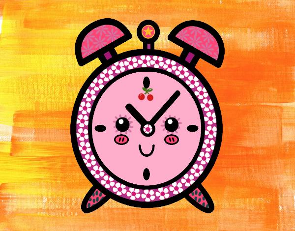 Dibujo Reloj despertador pintado por MariaMc