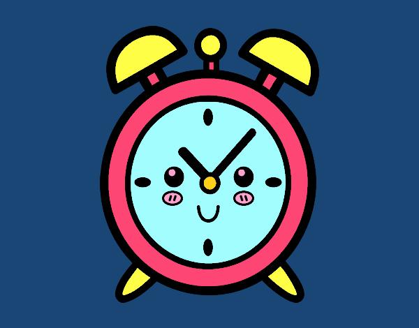 Dibujo Reloj despertador pintado por vale26