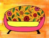 Dibujo Sofá vintage pintado por Enga