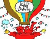 Dibujo Tarjeta de Feliz Cumpleaños pintado por perla01