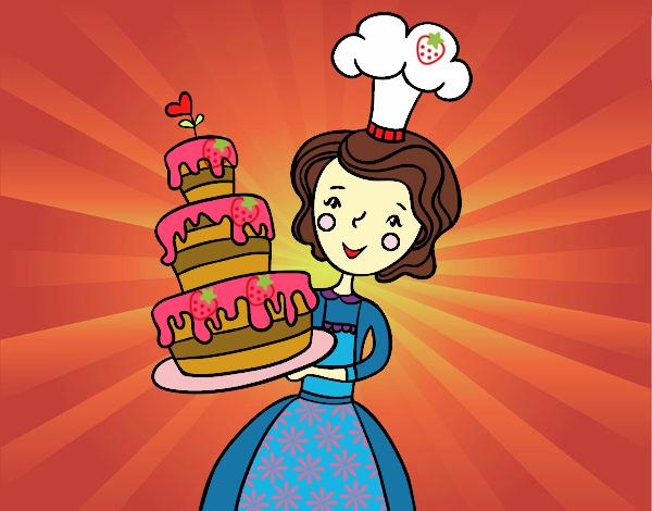 Dibujo Tarta de cumpleaños casera pintado por MariaMc