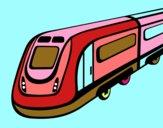 Dibujo Tren de alta velocidad pintado por BRANDOFOL