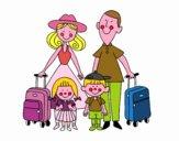 Dibujo Una familia de vacaciones pintado por taniysofi