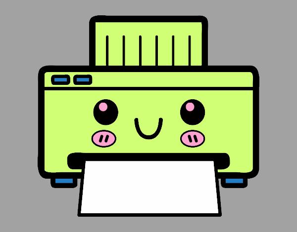 Dibujo Una impresora pintado por vale26