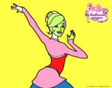 Barbie en postura de ballet