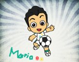 Jugando a fútbol