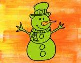 Muñeco de nieve con sombrero