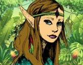 Dibujo Princesa elfo pintado por anmideflo