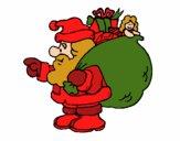 Papa Noel con el saco de regalos 1