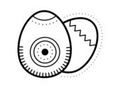 Dibujo de 2 huevos de pascua