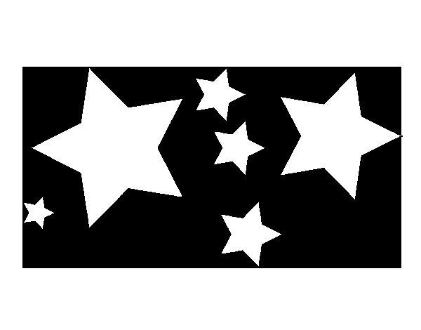 Dibujo de 6 estrellas para Colorear