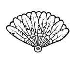 Dibujo de Abanico de plumas para colorear