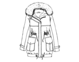 Dibujo de Abrigo de invierno para colorear
