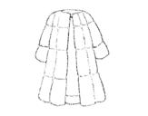 Dibujo de Abrigo de piel para colorear