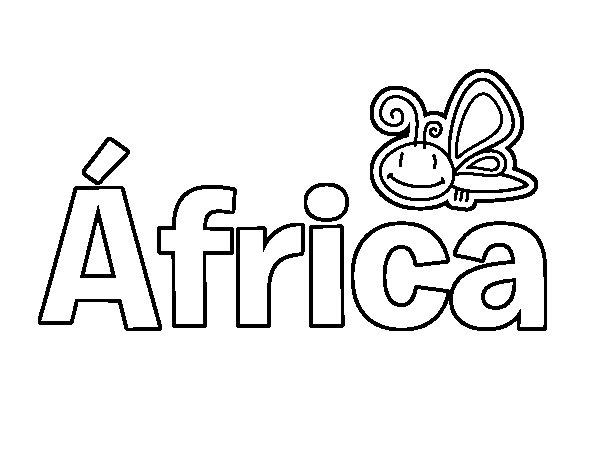 Niños De Paises Para Pintar: Dibujo De Africa