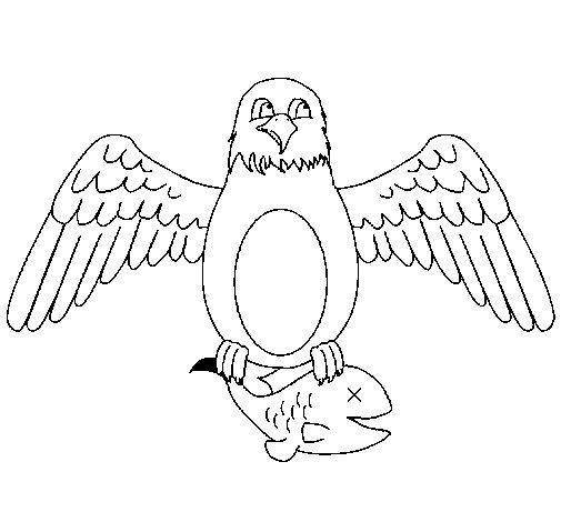Dibujo de Águila cazando para Colorear