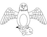 Dibujo de Águila cazando