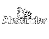 Dibujo de Alexander para colorear