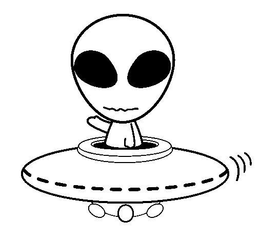 Dibujo de Alienígena para Colorear