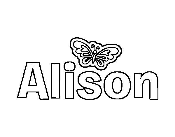 Allison Coloring Pages Coloring Pages