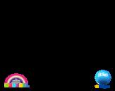 Dibujo de Anais alegre para colorear
