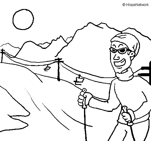 Dibujo de Andorra 1 para Colorear