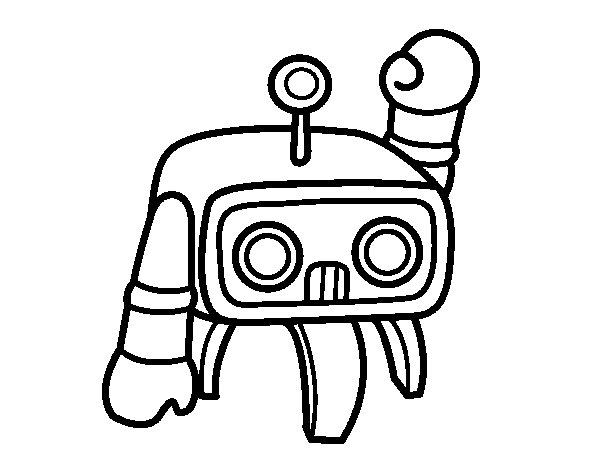 Dibujo de Androide saludando para Colorear