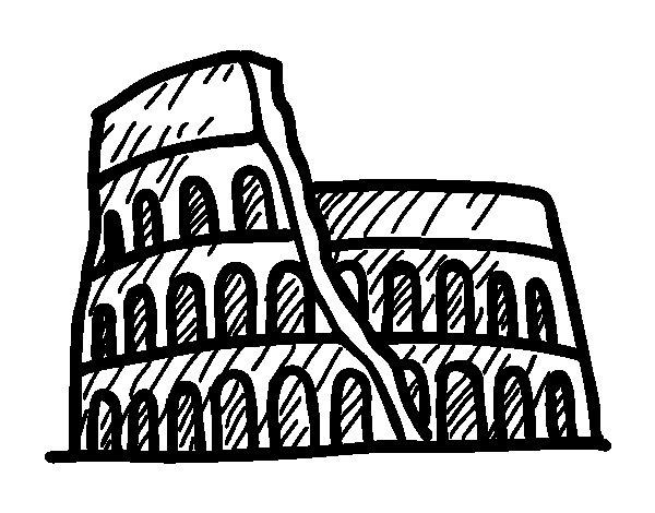 Dibujo de Anfiteatro romano para Colorear