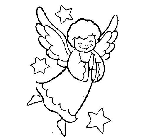 Dibujo de Angelito para Colorear